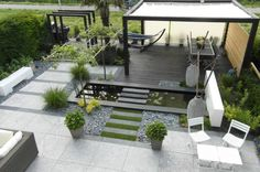 Modern patio, courtyard, contemporary…..if I only had a back yard