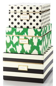 Loving these nesting organization boxes from kate spade!