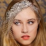 Sparkling Crystal Accessory with Birdcage Veil