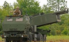 Un dispositif de lance-roquettes HIMARS aux Etats-Unis en 2014.