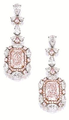 beautiful pink diamond earrings - Prissy~Sassy~Chic ❤ #FineJewelry