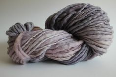 Thistle Color Hand Spun Hand Dyed Thick and Thin Chunky Wool Yarn