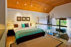 Great Interior Design to Enjoy the Earth Paradise in Velassaru: The Bedroom With Brown Ceiling Of Velassaru Resort