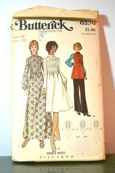 1970s Vintage Butterick Pattern 6336 Misses by TabbysVintageShop, $8.00