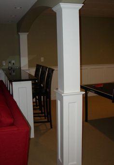 moulding on basement columns