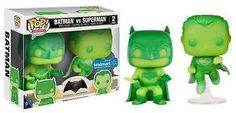 Glow in Dark DC Batman Vs Superman Walmart Exclusive! Funko PoP! Vinyl 2 Pack NEW IN BOX! INCLUDES: 1x Batman Figure 1x Superman Figure GLOWS IN THE DARK Age 14+ Years Disclaimer: While I personally s