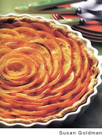 Valencian Orange Tart by Anya von Bremzen. Tip from the cook: for an extra jolt of citrus, serve the tart with a refreshing citrus sorbet.