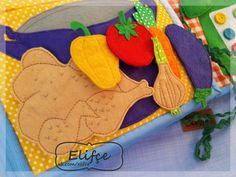 """Мастерская Elifçe: Развивающая книжка №13 """"Первым делом самолеты...""""/Quiet book №13 Felt Books, Quiet Books, Felt Mushroom, Sick Kids, Busy Book, Book Journal, Textiles, Felt Crafts, Diy For Kids"""