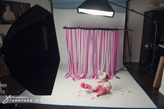 Setup for Baby cake smash shoot - click for more