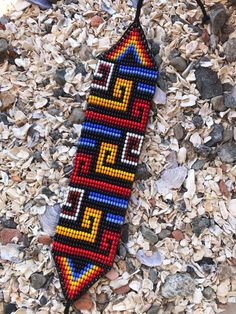 Native Beading Patterns, Beadwork Designs, Beaded Bracelet Patterns, Bead Loom Patterns, Peyote Patterns, Macrame Patterns, Friendship Bracelet Patterns, Cross Stitch Cushion, Handmade Wire Jewelry