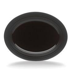 Mikasa Swirl Black Oval Platter