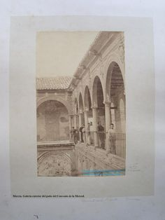 Murcia, convento La Merced 1864 Claustro Después fue Colegio Marista de 1926 hasta 1934. Luego Universidad, ahora Facultad de Derecho.