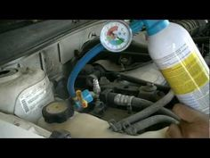 How to Add Freon to a Car and Manually Engage AC Compressor Clutch Car Maintenance Costs, Engine Repair, Car Repair, Vehicle Repair, Repair Shop, Refrigeration And Air Conditioning, Rv Truck, Trucks, Ac Compressor