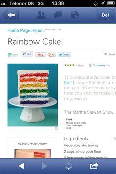 Regnbue-kage