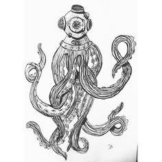 So, for those of you who don't know, I decided to switch my major from Nursing to Art Education. I'm super excited to begin on this new road, to study something I am truly passionate about, and enjoy my school work. I look forward to the road ahead with joy. Also here's another drawing I finished last night. #octopus #ink #sharpie #handdrawn #creativejuice