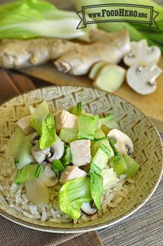 Vegetables and Turkey Stir-Fry | Food Hero - Healthy Recipes that are done in 20 minutes!