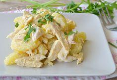 Insalata di pollo e patate con salsa tonnata