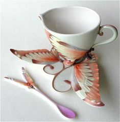 Artful cup and saucer.