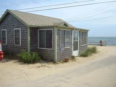 Beachfront Cottage in Dennis Port Wants $88K - NEW TO MARKET - Curbed Cape Cod Little Cottages, Little Houses, Cape Cod Map, Dream Properties, Shed, Real Estate, Outdoor Structures, Lake Front, Places