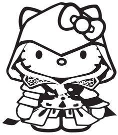 Hello Kitty assassin's creed ezio Vinyl Decal for Cars, Laptops, iPads, | eBay