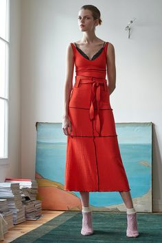 Veronique Leroy - Pre Spring/Summer 2017 Ready-To-Wear New York Fashion Week Fashion Cover, Red Fashion, Fashion Week, Fashion 2017, Winter Fashion, Fashion Show, Fashion Design, Fashion Trends, Couture Fashion