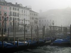 Foggy mornings make the Venice Gondolas appear even more mystical