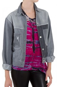 Throw on the faded grey Demmo Jacket ($390) from Isabel Marant Étoile on those colder fall and winter days. #isabelmarant #denimjacket #jeanjacket #denim