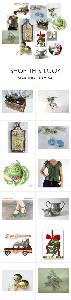 """Vintage Christmas"" by inspiredbyten ❤ liked on Polyvore featuring vintage"