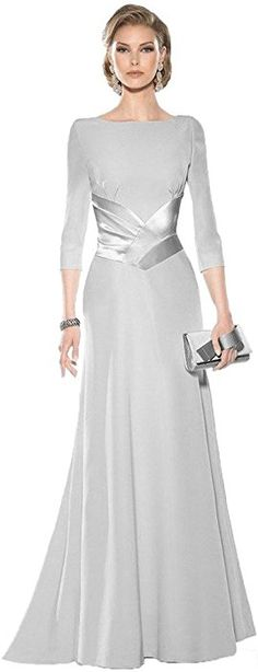 4c76f5cc23 Kelaixiang Mother of the Bride Dress for Wedding Evening Formal Gowns  Sleeves Silver US 2 at