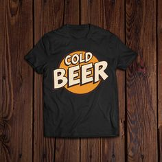 Cold Beer Alcohol Beverage Awesome Cool Logo Shirt Cute Tshirts, Cool Logo, Beverage, Alcohol, Beer, Cold, Awesome, Mens Tops, T Shirt