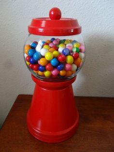 Red Terra Cotta Pot Gumball Candy
