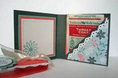 papercraft tea bag wallet - tutorial for several styles, plus link to tea bag wallet gallery for more ideas