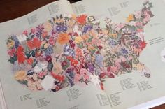 Floral Map of the United States. It would be nice to ride through it on bike!