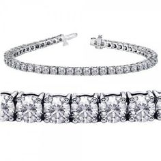 Bridal & Wedding Party Jewelry Engagement & Wedding Enthusiastic Vintage Estate Solid 14k Yellow Gold 1.00ctw Diamond 3mm Tennis Bracelet D8