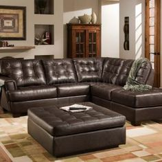Living Room Design Ideas Leather Sectional