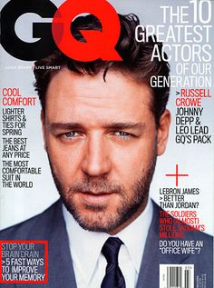 The GQ Cover Portfolio: The Magazine: GQ Russell Crowe #russellcrowe #magazinecovers #australianactors