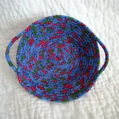 Summer Bouquet Fabric Coiled Basket