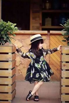 2016 kimocat  daisy style Fashion Brand Summer Daisy Dress Full Chiffon Girls Frocks Children Princess Dresses