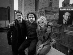 | VANITY FAIR | Edward Norton, Alejandro González Iñárritu, and Emma Stone on the roof of the St. James Theatre.