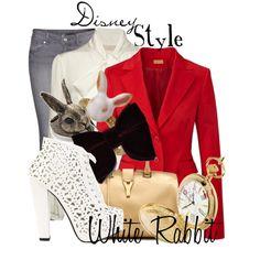 """Disney Style : White Rabbit"" by missm26 on Polyvore"