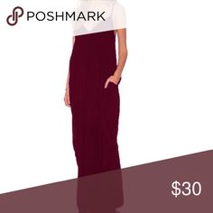 SIZE 6 red wine MAXI ❤️❤️🌹🌹 BRAND NEW with tags - size 6 - small zipper in back Dresses Maxi