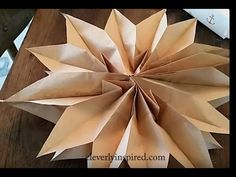 How To Make A Paper Bag Star or Flower - YouTube