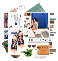 """""""Vacation style"""" by tessabit ❤ liked on Polyvore featuring Valentino, Tory Burch, Étoile Isabel Marant, Ancient Greek Sandals, N°21, Trademark Fine Art and Thierry Lasry"""
