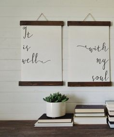 It is well with my soul/canvas art print/wall by thewoodedlane
