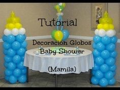 Decoracion De Globos Baby Shower ( MAMILA ) *Economico y Facil*