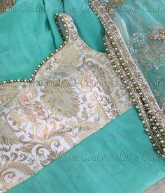 Dress white outfit party shoes ideas for 2019 Sari Blouse Designs, Designer Blouse Patterns, Lehenga Designs, Dress Patterns, Indian Attire, Indian Outfits, Indian Wear, Indian Dresses, Indian Look
