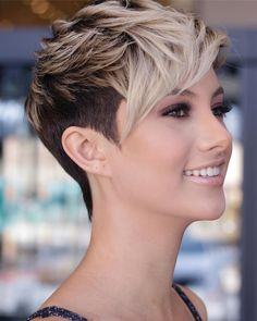 pixie hairstyles 58 Pixie Cut Hairstyles That Will Inspire You to Go Short These trendy Hairstyles ideas would gain you amazing compliments. Check out our gallery for more ideas these are trendy this year. Popular Short Hairstyles, Bob Hairstyles, Stylish Hairstyles, Super Short Hairstyles, Short Womens Hairstyles, Tomboy Hairstyles, Fashion Hairstyles, Edgy Pixie Cuts, Pixie Cuts For Round Faces