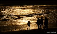 silhouettes in the sunset