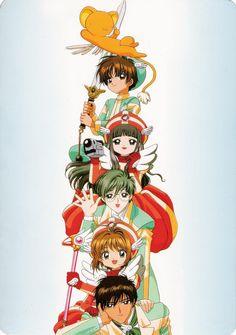Cardcaptor Sakura | CLAMP | Madhouse / Kinomoto Sakura, Daidouji Tomoyo, Keroberos (Kero-chan), Li Shaoran, Kinomoto Touya, and Tsukishiro Yukito