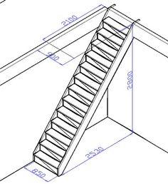 лестница с размерами